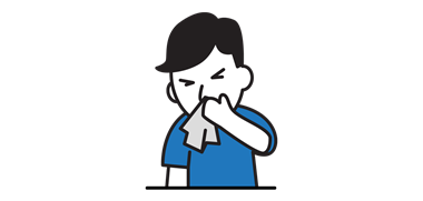 man sneezing icon