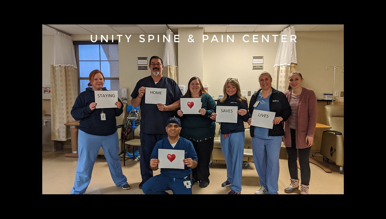 COVID encouraging words from RRH Unity Spine Center