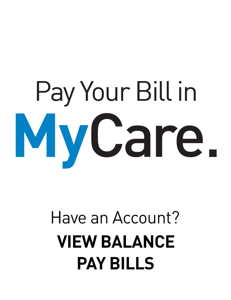 Login to MyCare to pay your bill