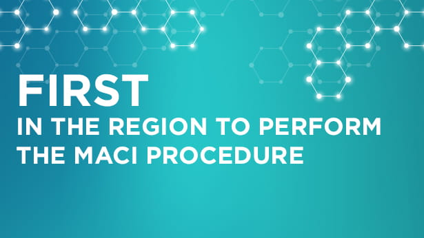 First in the region to perform the MACI procedure