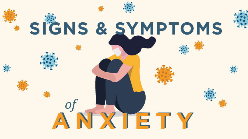 Woman with signs and symptoms of COVID-19 anxiety