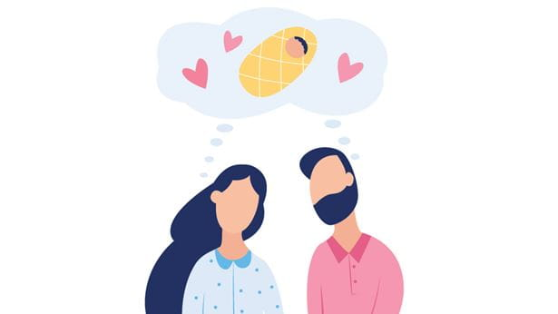 Fertility couple dreaming of a baby