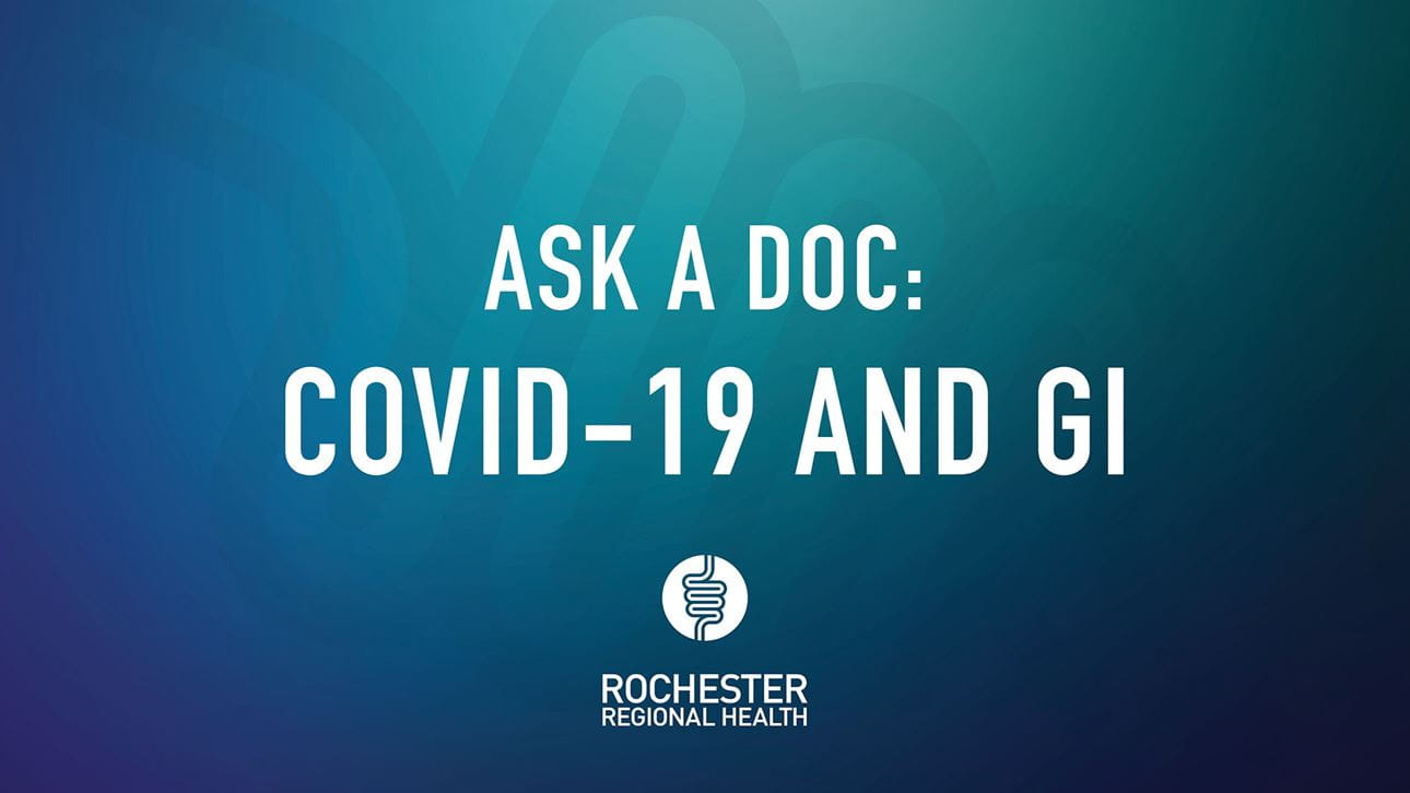 Ask a Doc graphic for COVID-19 and GI