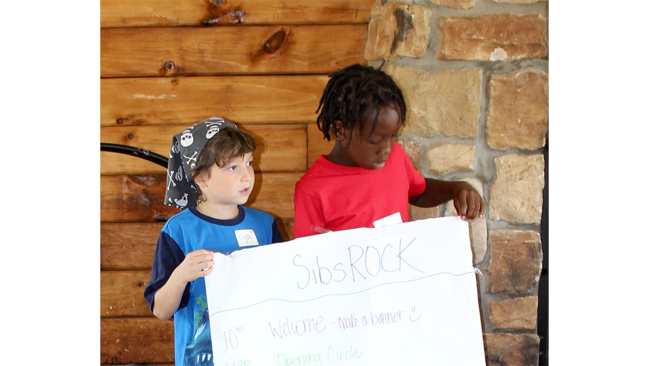 two boy at CompassionNet's SibsROCK! day