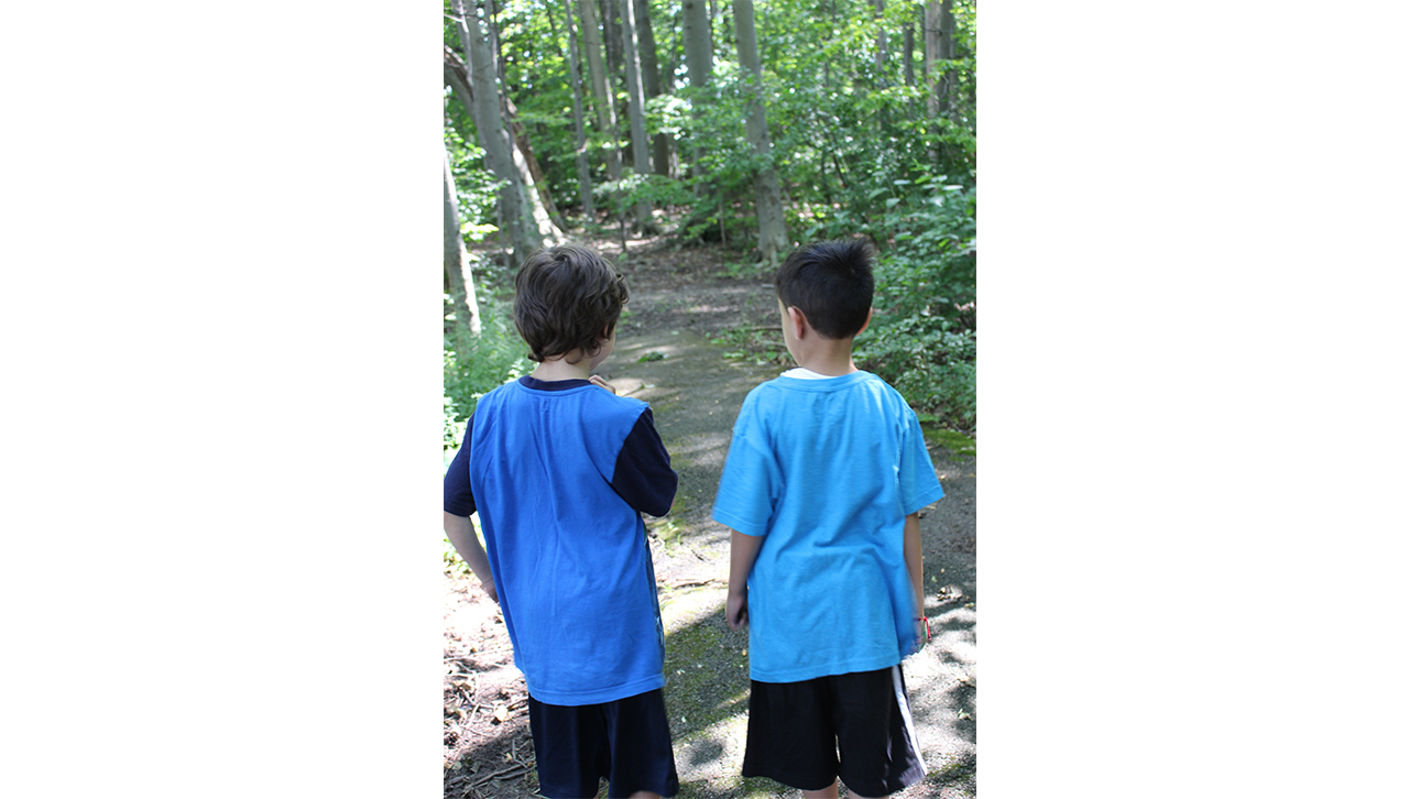 two young boy walking at CompassionNet's SibsROCK! day