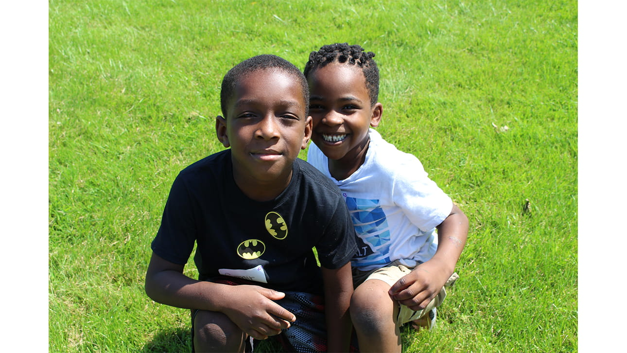 two boys at CompassionNet's SibsROCK! day