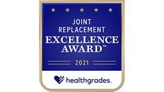 Healthgrades ranked among the top 10 percent in the nation for Joint Replacement.