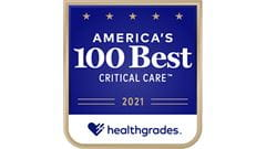 Healthgrade 100 Best Hospitals for Critical Care