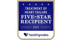 Healthgrade 5-star rating for Treatment of Heart Failure