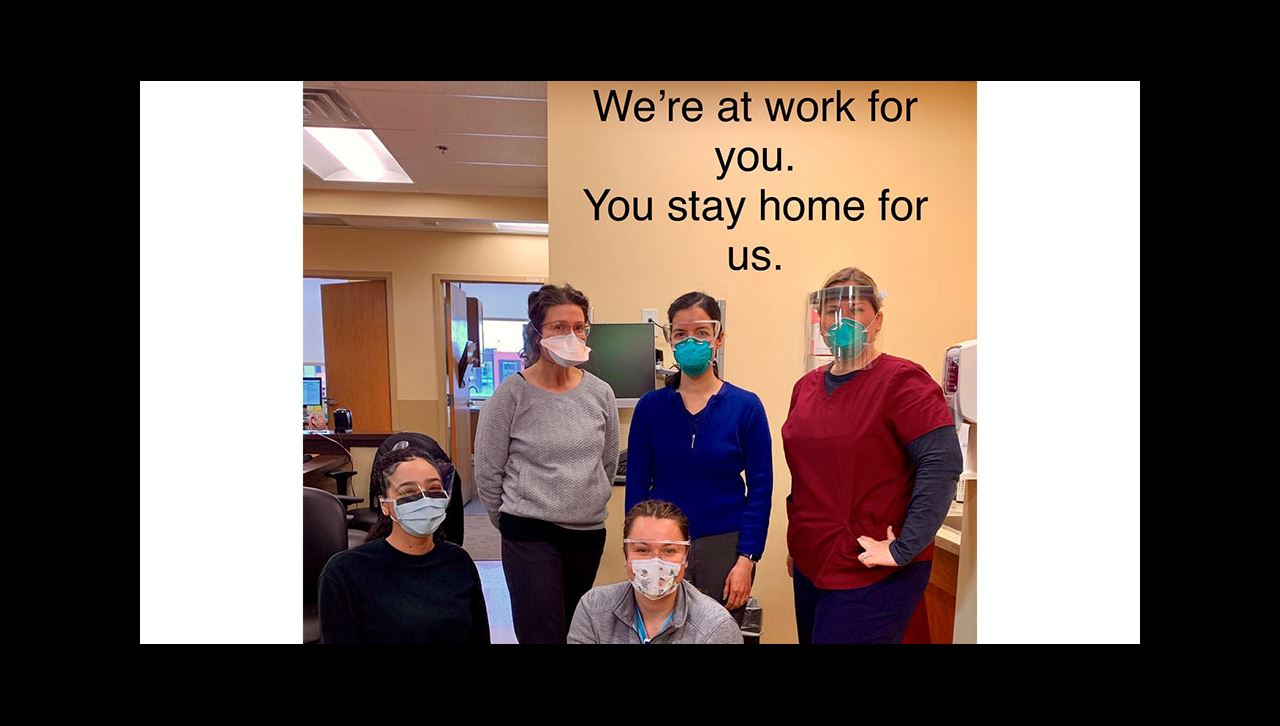 Genesee Peds COVID positive message