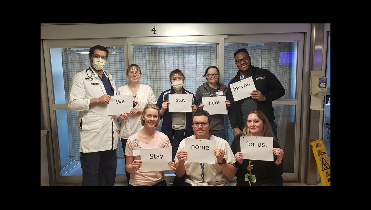 NWCH group COVID positive message