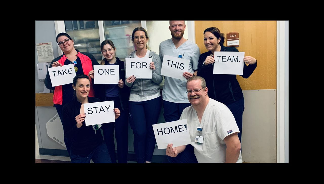 RGH cardiothoracic surgery COVID positive message