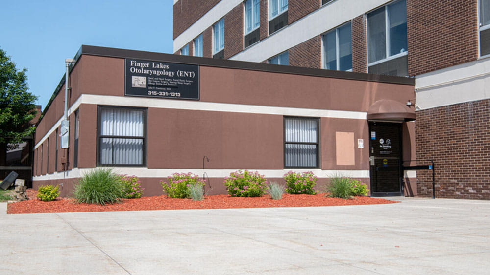 Exterior of the Finger Lakes ENT building in Newark, NY