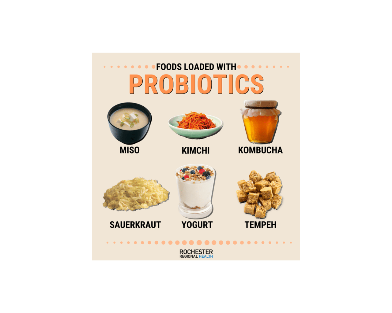 Foods that naturally contain probiotics