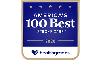 America's 100 Best Stroke Care 2020 Award From Healthgrades
