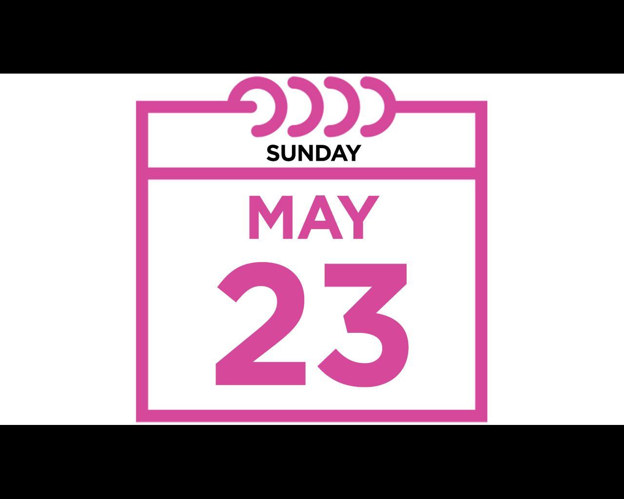 Sunday, May 23, 2021