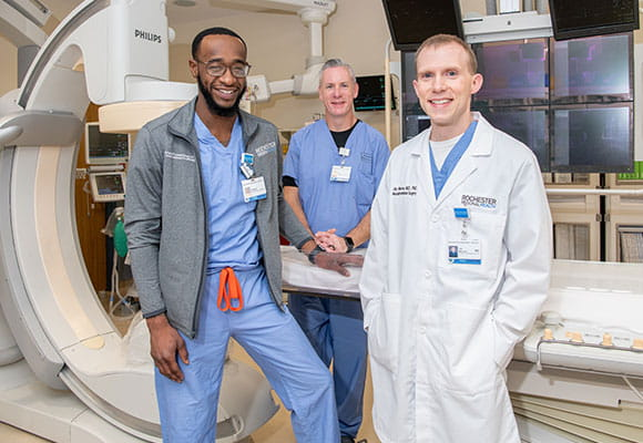 Dr. Jay Morrow and the Neurointerventional team at Rochester Regional Health.