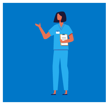 Nurse with clipboard prepared for duty or learning