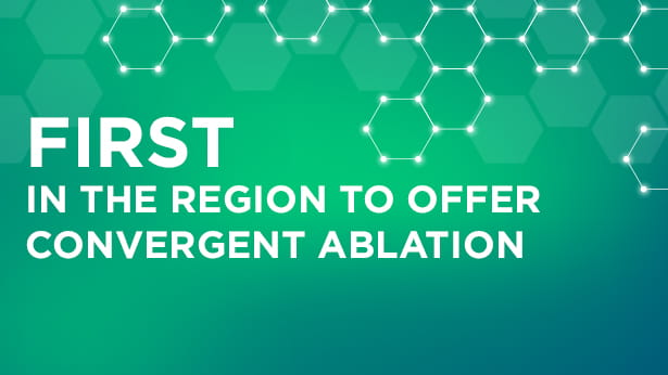 First to offer convergent albation