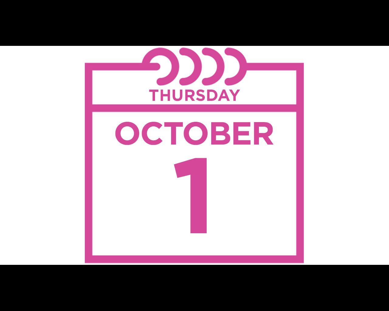thursday october 1
